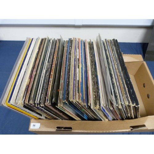 56 - Large box of LPs to include john Lennon, Free, Cat Stevens etc.