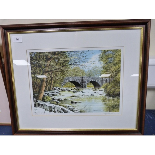 59 - Two limited edition prints, both signed to include Skelwith Bridge by Ken Burdon.