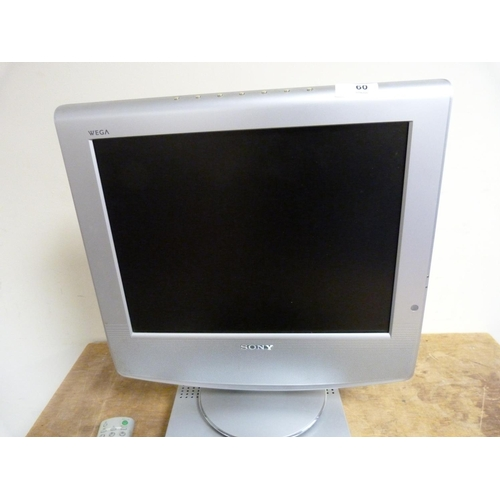 60 - Small Sony flat screen television and Freeview box.