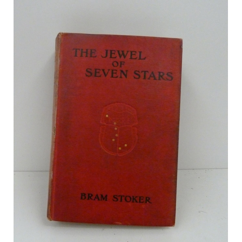 112 - <strong>STOKER BRAM.</strong>The Jewel Of Seven Stars. Orig. red cloth, some wear, fading & mk...