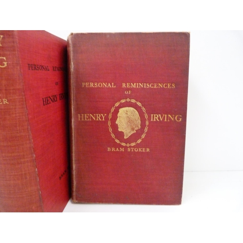 118 - <strong>STOKER BRAM.  </strong>Personal Reminiscences Of Henry Irving. 2 vols. Frontis & illus. ...