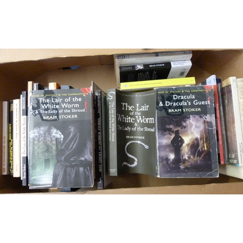 143 - <strong>STOKER BRAM.</strong>Works. A carton of paperbacks incl. foreign language eds....