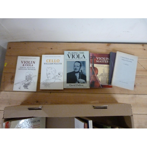 162 - <strong>Practical Violin Playing.</strong>A carton of books & softback publications....