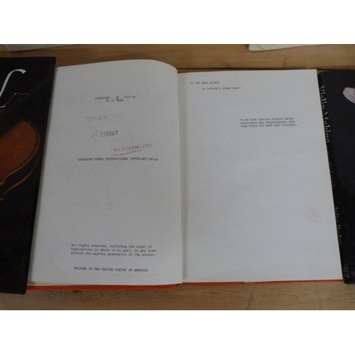 168 - <strong>STROBEL HENRY A.</strong>5 softback quarto publications re. violin making; also ...