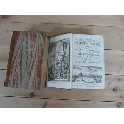 184 - <strong>The London Magazine or Gentleman's Monthly Intelligencer.</strong>Vols. 35 &...