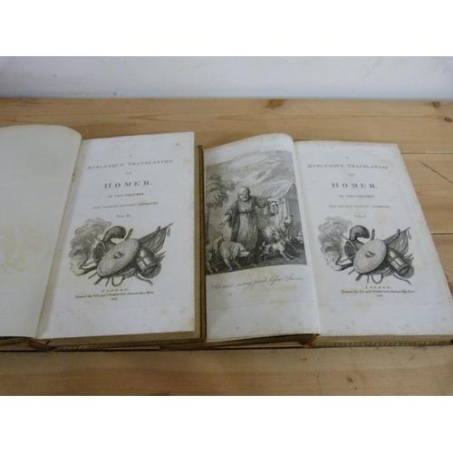 189 - <strong>(BRIDGES THOMAS).</strong>A Burlesque Translation of Homer. 2 vols. Eng. frontis...