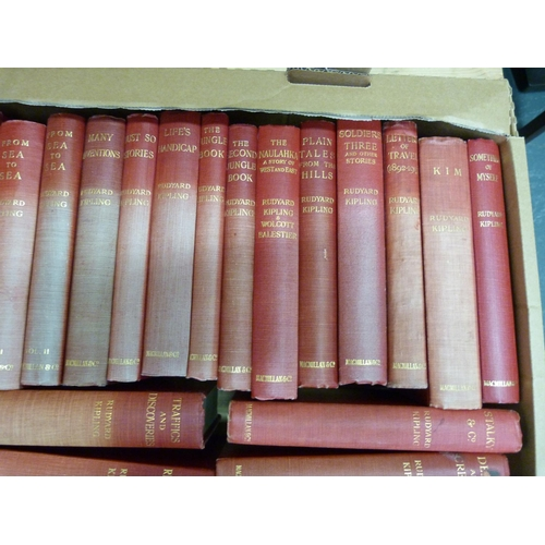 201 - <strong>KIPLING RUDYARD.</strong>Works. 25 various vols. incl. 1st's of Limits & Renewals, A D...