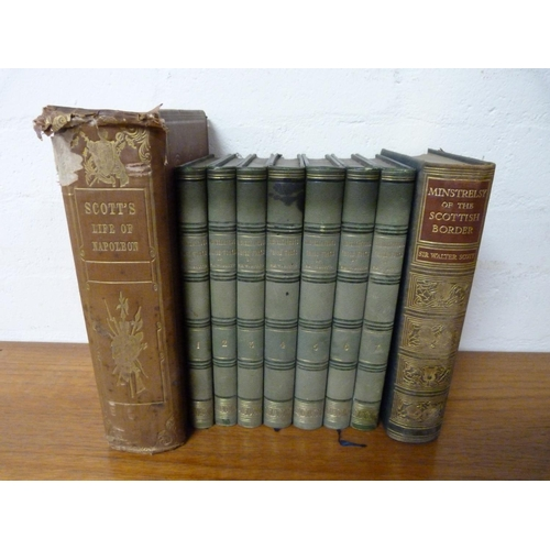 220 - <strong>SCOTT SIR WALTER.</strong>The Miscellaneous Prose Works. 7 vols. Qtr. green moro...