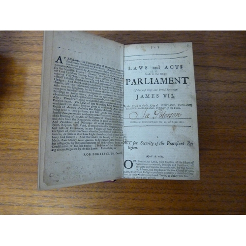 230 - <strong>Scottish Parliament.</strong>The Laws & Acts of Parliament Made By King James the Firs...