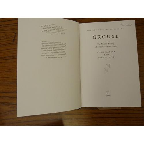 265 - <strong>WATSON ADAM & MOSS ROBERT.</strong>Grouse. Signed ltd. ed. 132/250 in dark c...