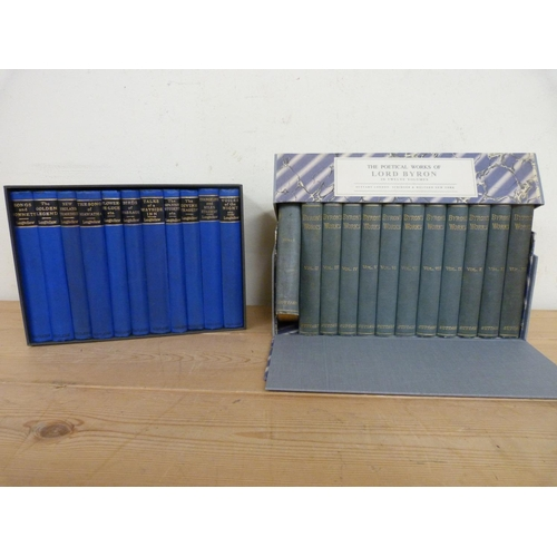 294 - <strong>LONGFELLOW.</strong>Author's Pocket-Volume ed. of 11 vols. in qtr. blue cloth &a...
