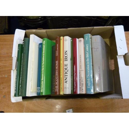 301 - <strong>Architecture & Decoration.</strong>A carton of various vols., mainly quartos...