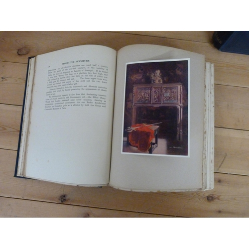312 - <strong>FOLEY EDWIN.  </strong>The Book of Decorative Furniture. 2 vols. Tipped in col. pl...
