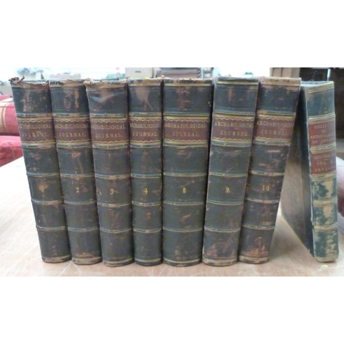 43 - <strong>THE BRITISH ARCHAEOLOGICAL ASSOC.</strong>The Archaeological Journal. Vols. 1 to 4 & 8...