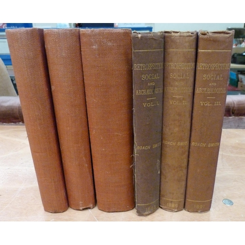 45 - <strong>ROACH SMITH CHARLES.</strong>Collectanea Antiqua. Bound vols. 1 to 4 in three. Very many p...