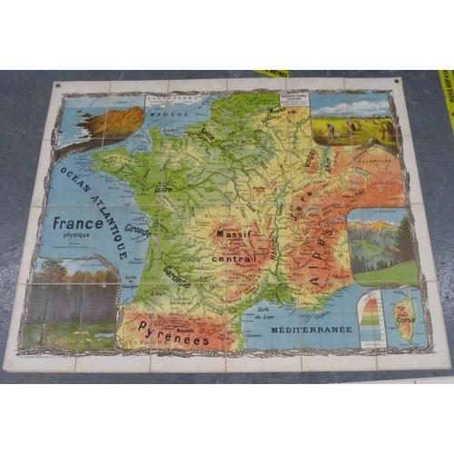 61 - <strong>LESOT ANDRÉ (Ed).</strong>Tableaux-Cartes Toutey. 2 large fldg. linen bac...