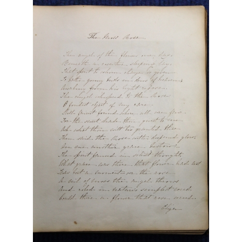 193 - <strong>WORDSWORTH MARY ANN.</strong>Watercolour & Drawing Book. Poor bdg. but with ...