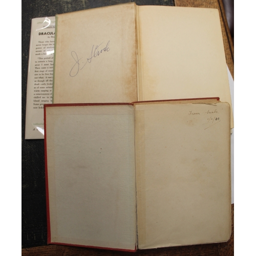 123 - <strong>STOKER BRAM.</strong>Dracula's Guest. Worn red cloth in facsimile d.w., internal...