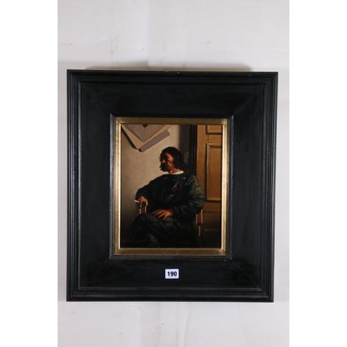190 - JACK VETTRIANO OBE Hon LLD (Scottish b 1951)*ARR*,<br />Portrait of the Artist (A Study)<br />Oil...