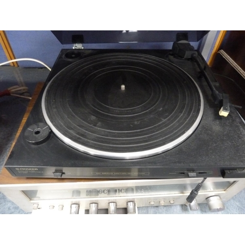 11 - Pioneer turntable, and a Technics amplifier....