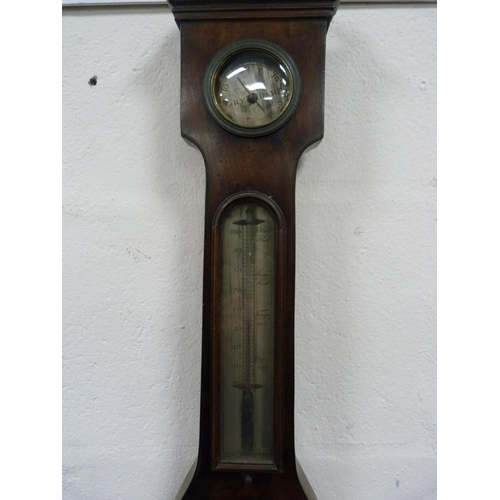 16 - Mahogany-cased wheel barometer....
