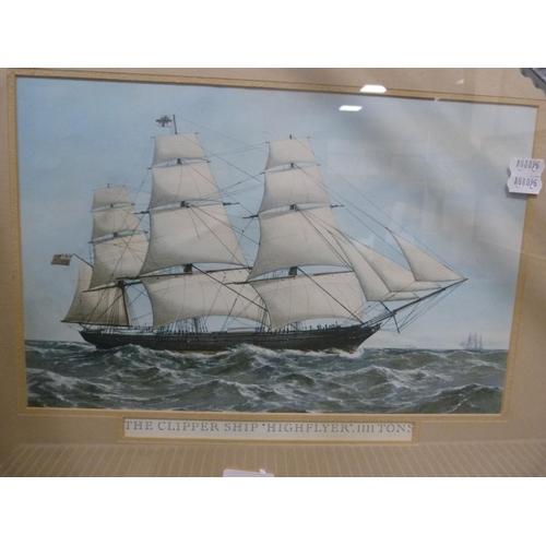 25 - Three maritime prints of clipper ships....