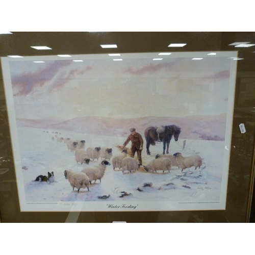 28 - ANDREA HELLYER, Winter Feeding, pencil signed limited edition print, 602/1250 commissioned by Border...