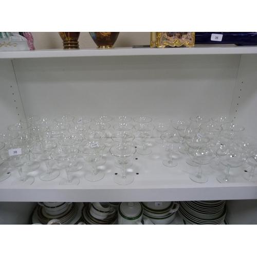 38 - Large quantity of glasses....