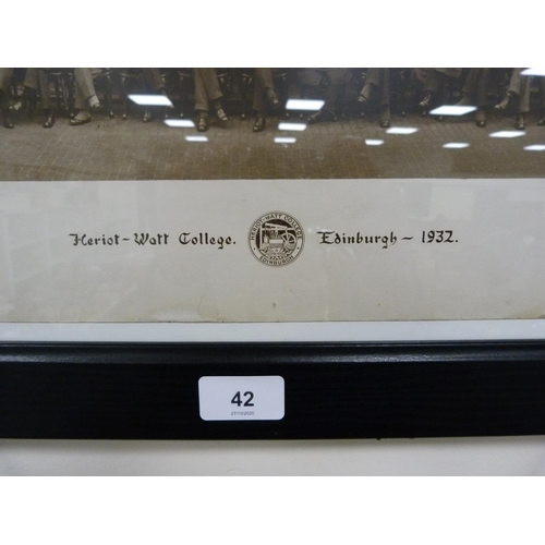 42 - Heriot Watt College, Edinburgh 1932, photo print....