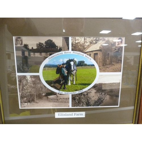 43 - Assorted prints, and pictures including the 18th at St Andrews, Dunottar Castle, Dumfries Old Bridge...