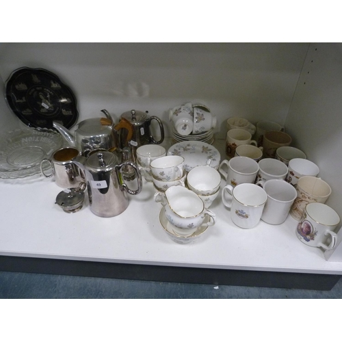 49 - Empire Exhibition plates, Picquot ware teapot, Paragon 'Enchantment' part tea set, and various other...