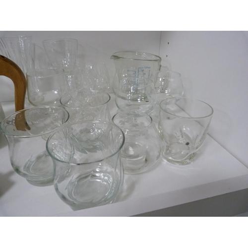 52 - Picquot ware teapot, assorted glasses, corkscrew etc....