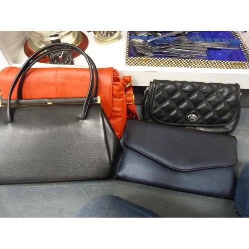 59 - Eco steam cleaner, handbags, wall clocks, mantel clocks, Jessops slimline digital picture frame etc....
