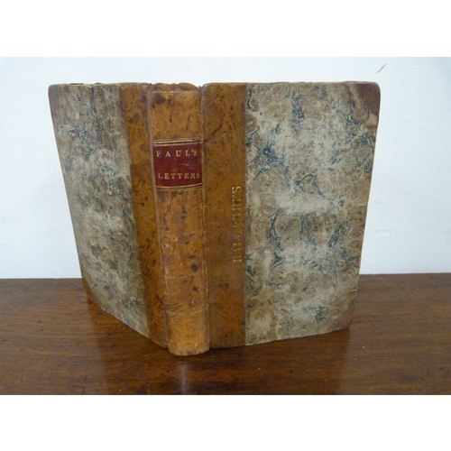"(SCOTT SIR WALTER).  Paul`s Letters to his Kinsfolk (visit to field of Waterloo etc.). Pres. inscription to title in author`s hand. Half title. Half calf, stamped ""Balcarres"" & with Bibliotheca Lindesiana bookplate. 1st. ed. 1816. From the famed Crawford library at Balcarres & inscribed by Scott to Mrs Murray Keith, a great friend of his & whom he portrayed in the introduction to his Chronicles of the Canongate."