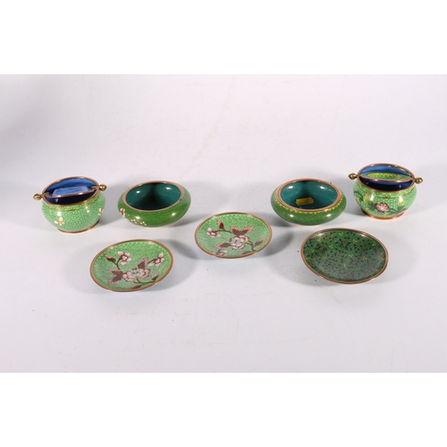 25 - Group of seven items of Oriental cloisonné ware