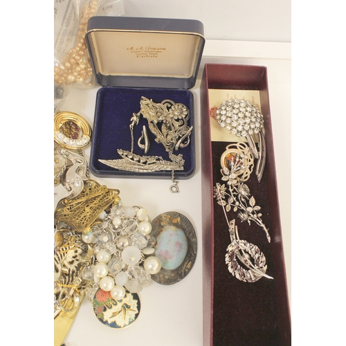 21 - Three lady's watches and a quantity of other costume jewellery....