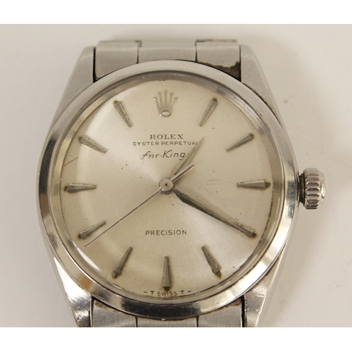 Gent's Rolex Oyster perpetual Air King watch, stainless steel on Tudor bracelet, 1960's.
