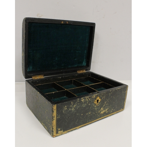38 - Lady's 9ct gold watch, 1919 on rolled gold bracelet, also Morocco jewel case and a brass rotating se...