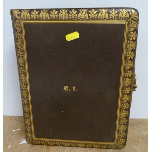 11 - Victorian photo album and contents