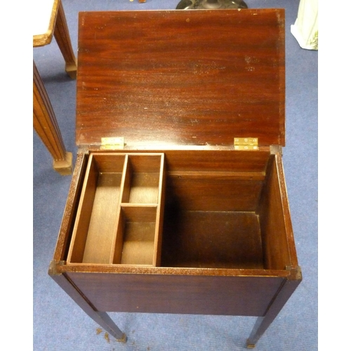 12 - Mahogany sewing box