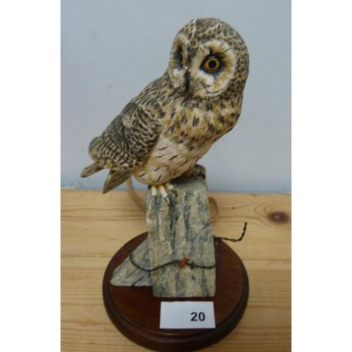20 - Border Fine Art owl figure