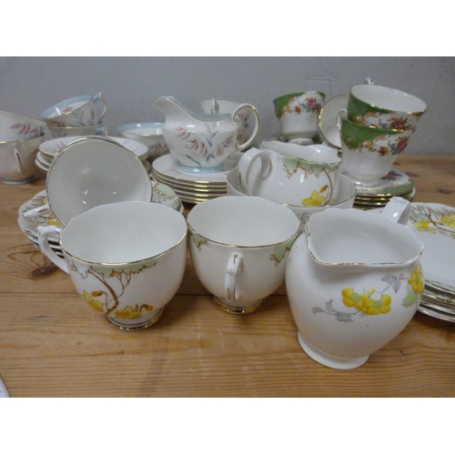 22 - Aynsley part teaset and two others to include Roslyn Springtime etc