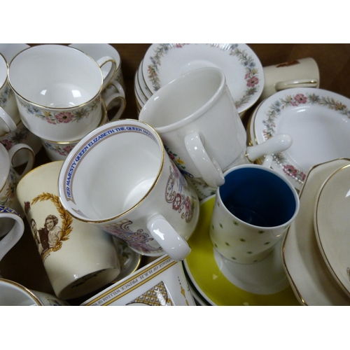 23 - Part Royal Albert teaset and commemorative mugs