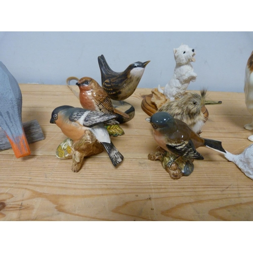 24 - Beswick collie and other bird and dog ornaments