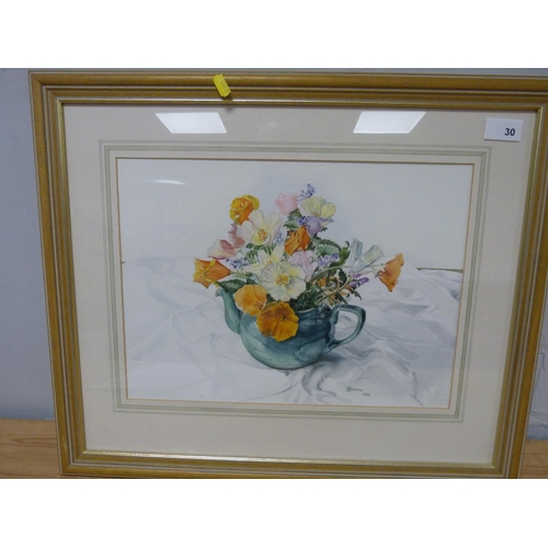 30 - J W CuthillStill LifeWatercolour