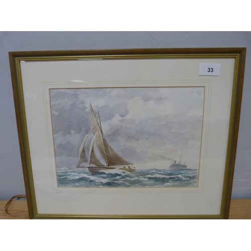 33 - R A KeithSolway Fishing BoatWatercolour