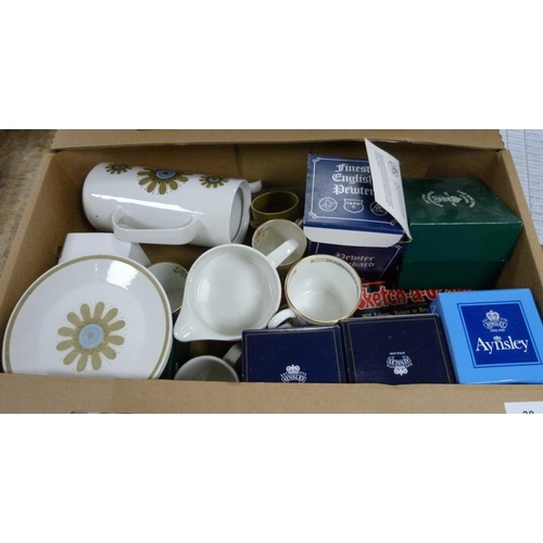 38 - Collection of commemorative mugs and a part teaset