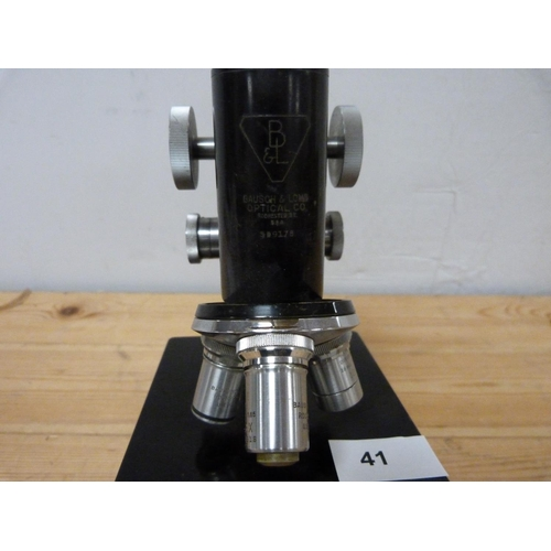 41 - Bausch and Lomb microscope