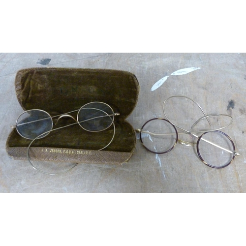 58 - Two pairs of vintage spectacles