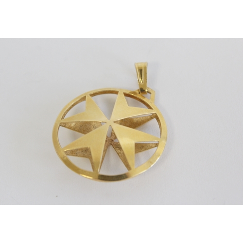 54 - Victorian 1887 half sovereign in 9ct gold mount 7.1g, 18ct gold Maltese cross pendant 3.2g and a 9ct...